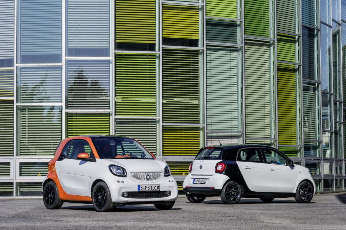 Smart Forfour e Smart Fortwo