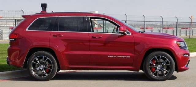Jeep Grand Cherokee SRT, dimensioni