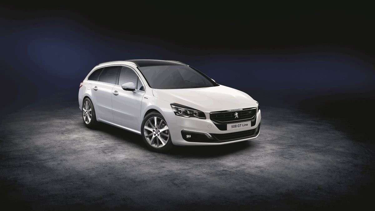Peugeot 508 sw GT Line, nuovo frontale