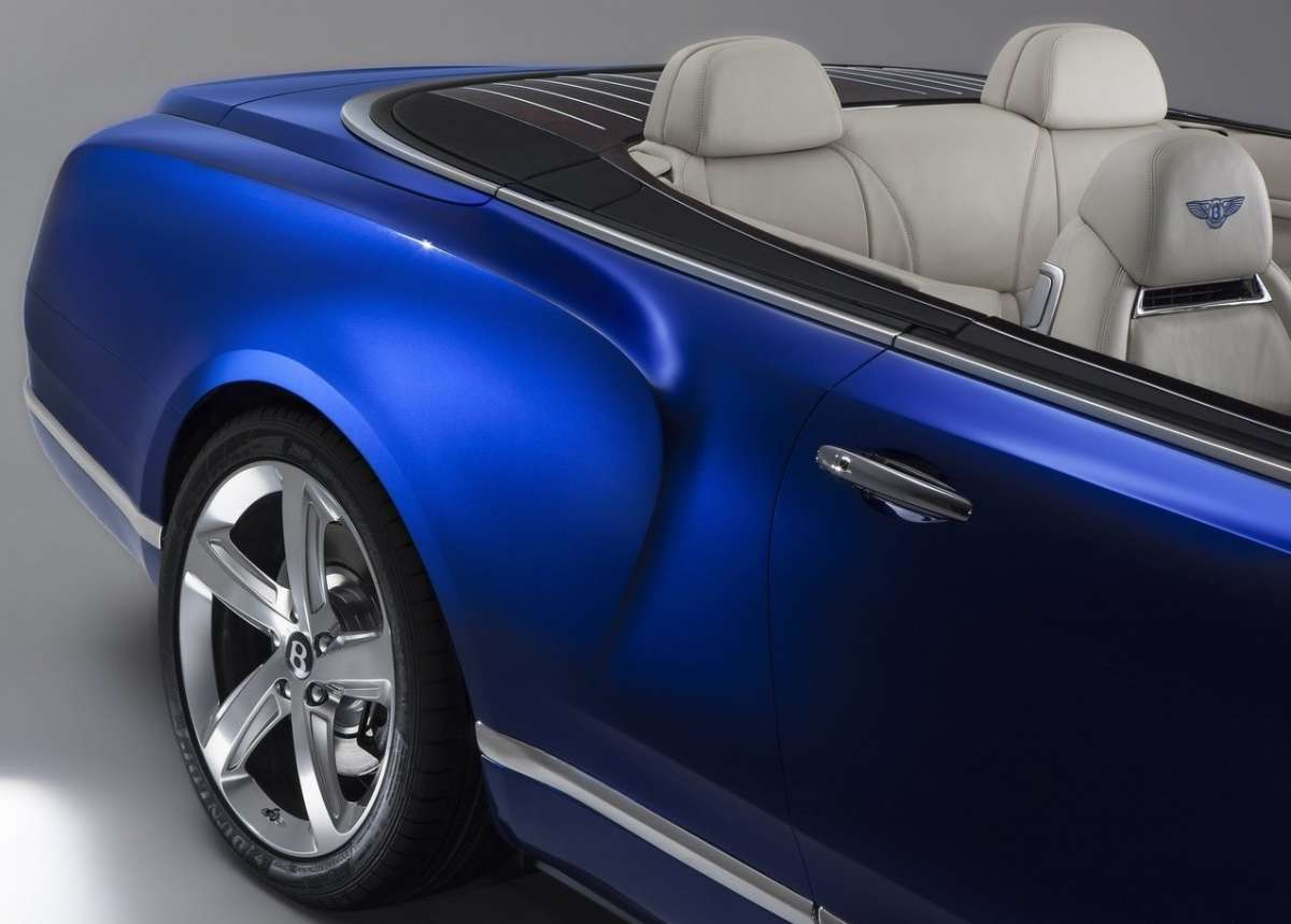 Tinta Seiquin blue per Bentley Grand Convertible