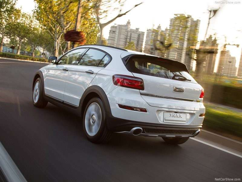 Qoros 3 City Suv on the road