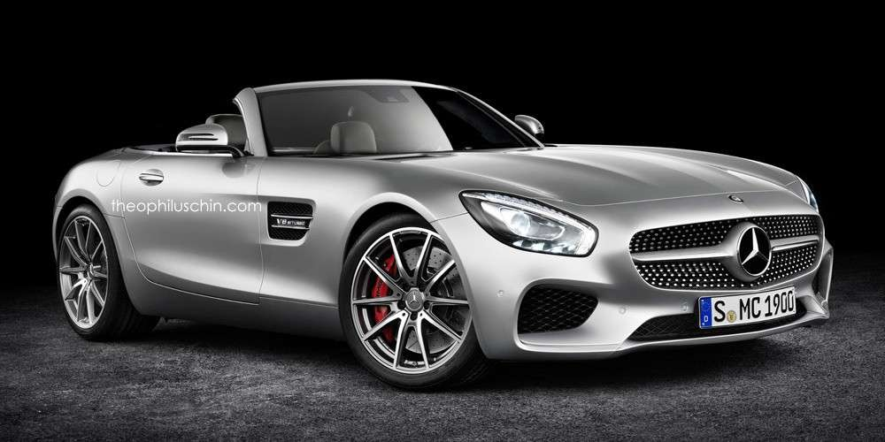 Mercedes Amg GT roadster, render