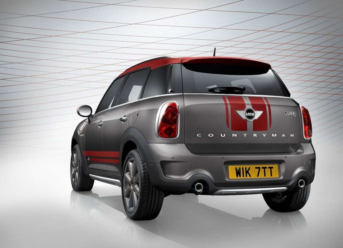 3/4 posteriore Mini Countryman Park Lane