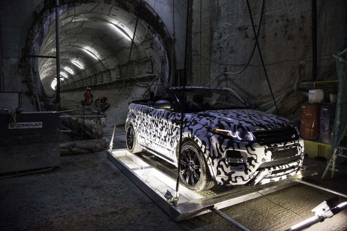 Location per le prove dell'Evoque Convertible