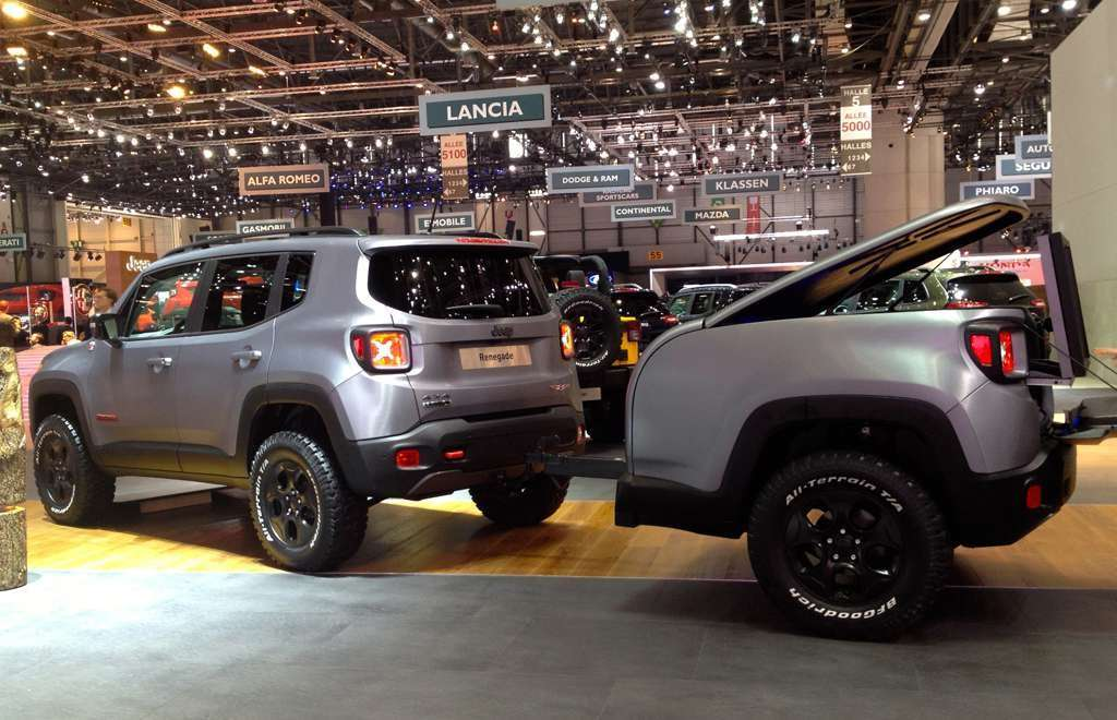 Jeep Renegade Hard Steel 3/4 posteriore a Ginevra