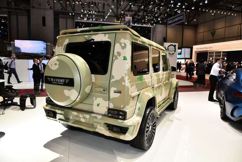 3/4 posteriore Mansory Mercedes G