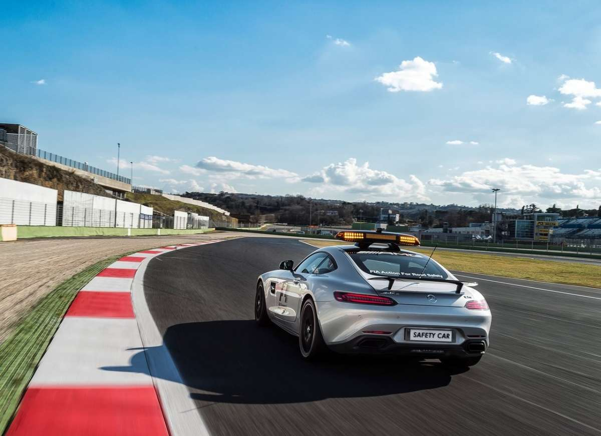 retro Mercedes AMG GT S F1 Safety Car