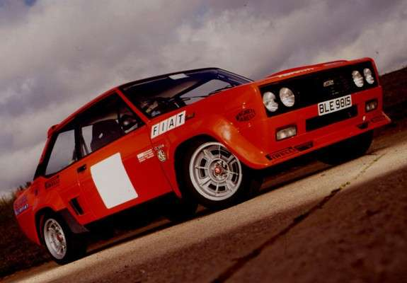 Fiat Abarth 131 Rally Corsa 1976 rossa