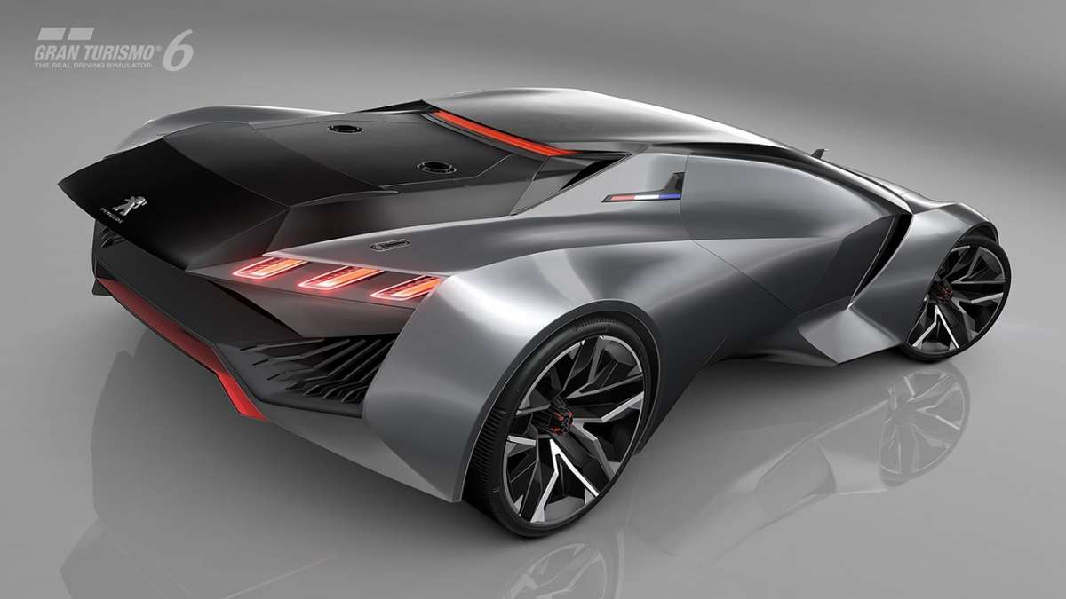 Peugeot Vision GT concept ala posteriore