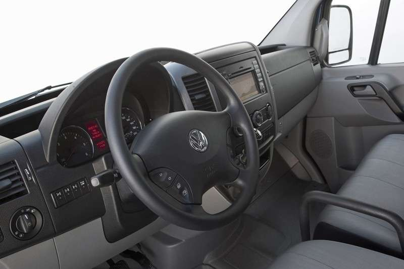 Interni del Volkswagen Crafter 4Motion