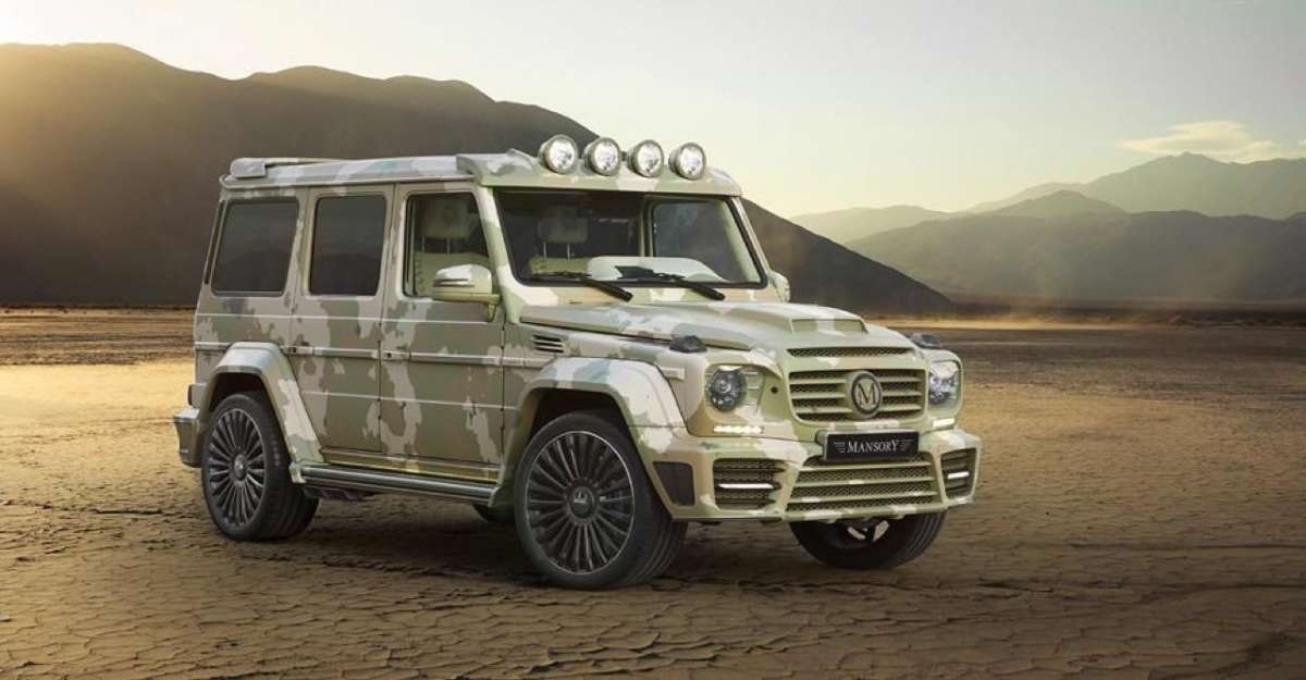 Mercedes G63 AMG Sahara Edition by Mansory, mimetica.