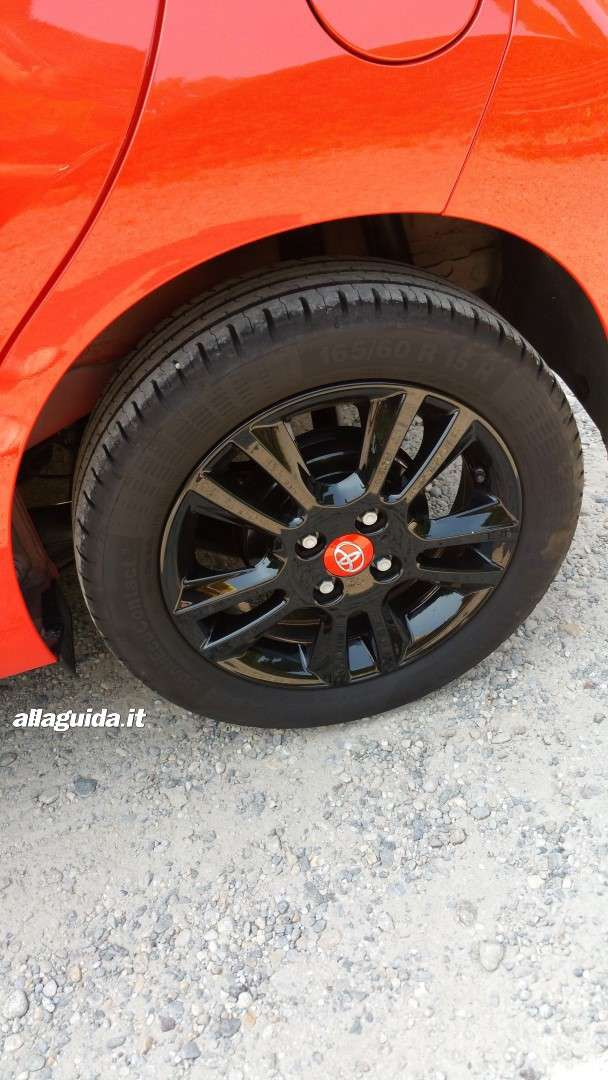 Gomme di nuova Toyota Aygo