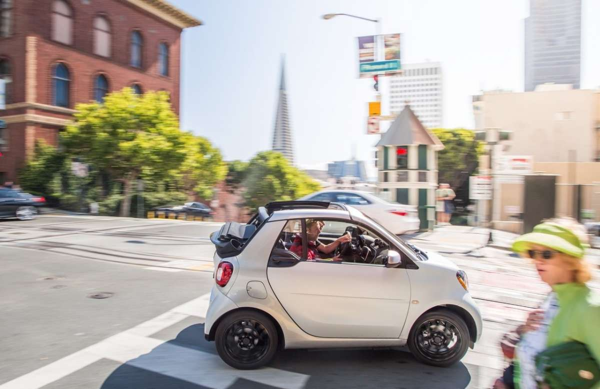 Smart ForTwo Cabrio, totalmente scoperta.
