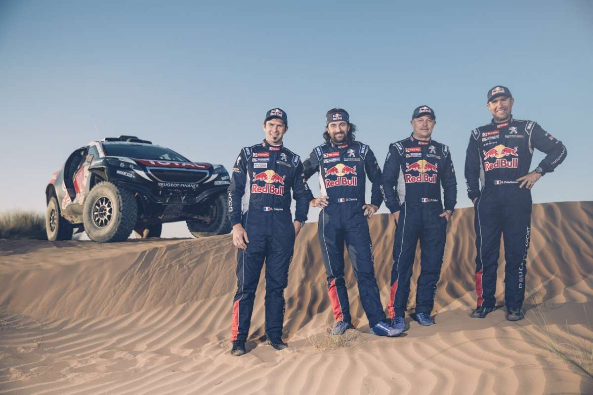 Peugeot 2008 DKR Silk Road Rally equipaggio