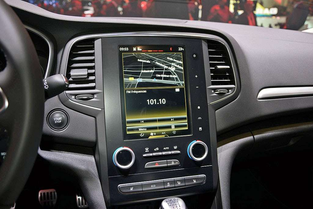 Mégane, multimedia: grande display