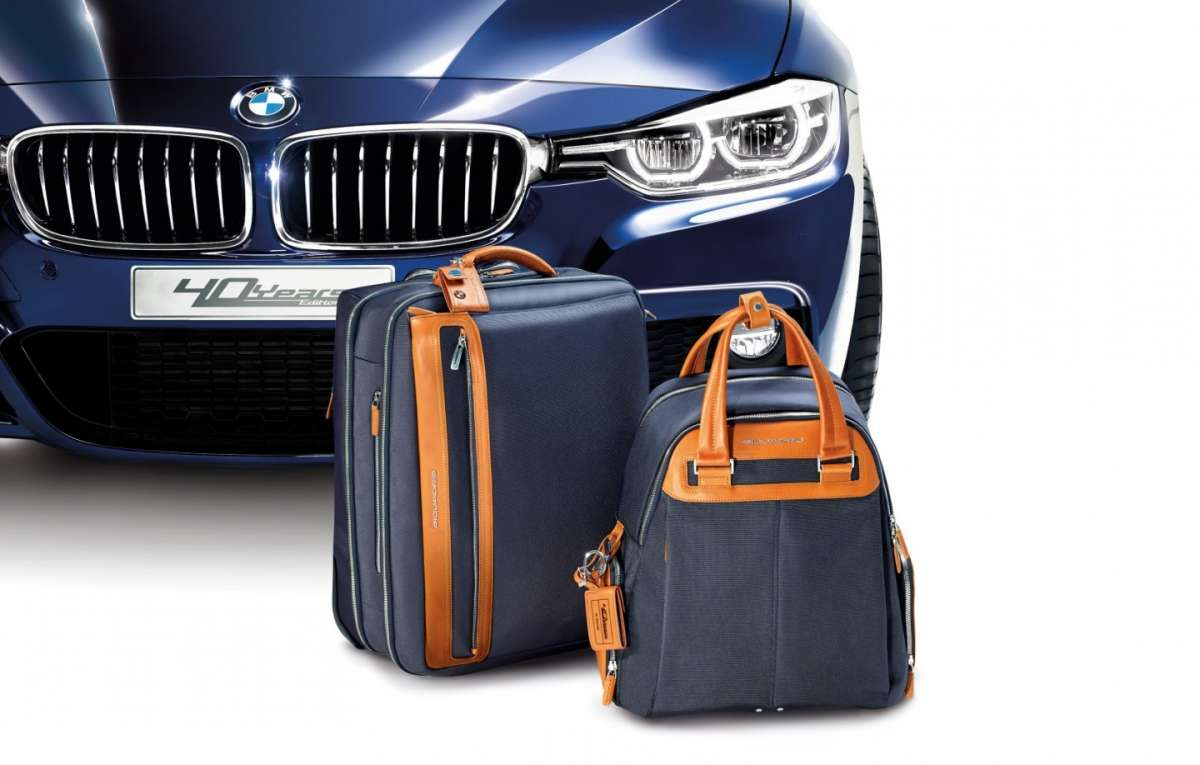 Bmw Serie 3 40 Years Edition, borse Piquadro