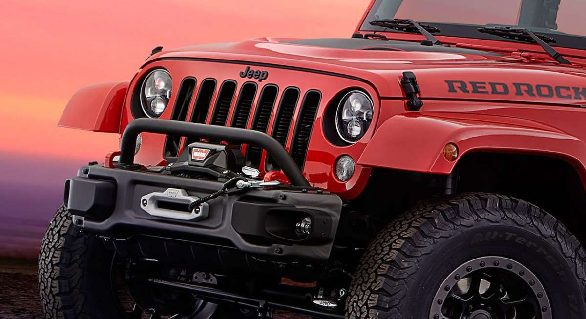 Jeep Wrangler Red Rock Concept frontale