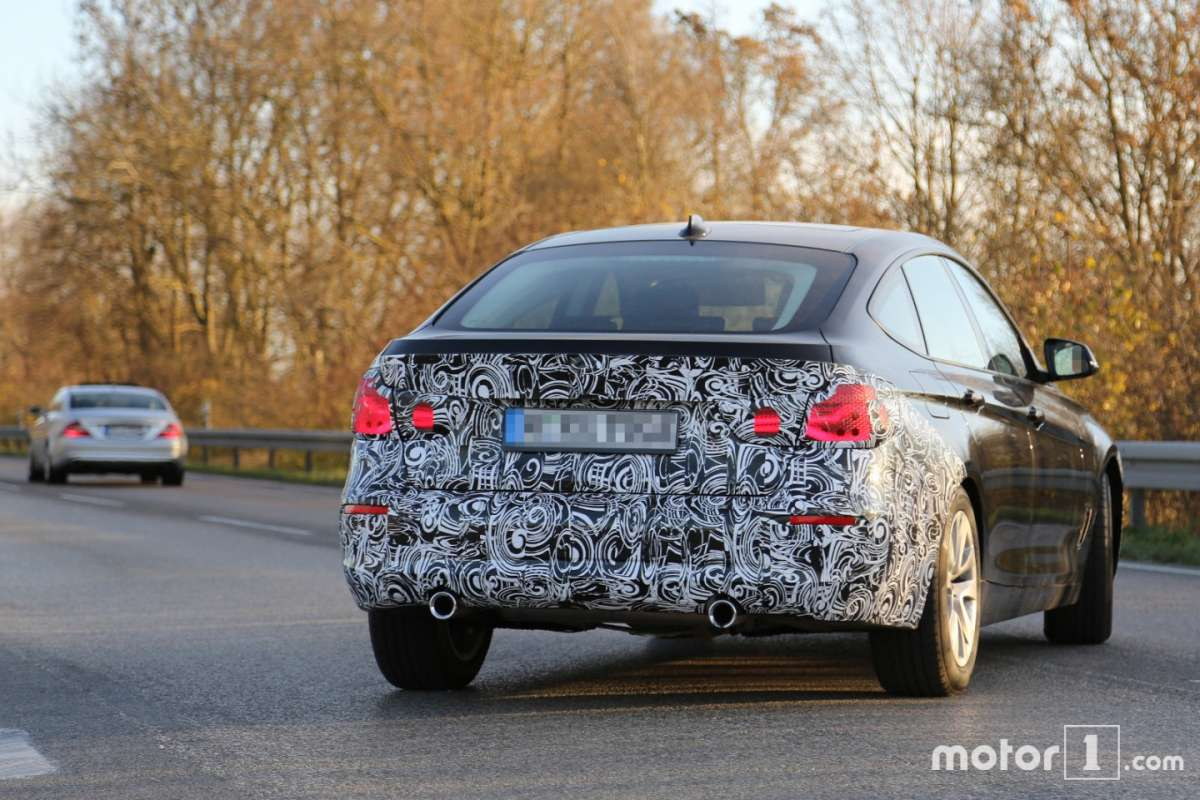 BMW Serie 3 GT spy foto spia restyling posteriore
