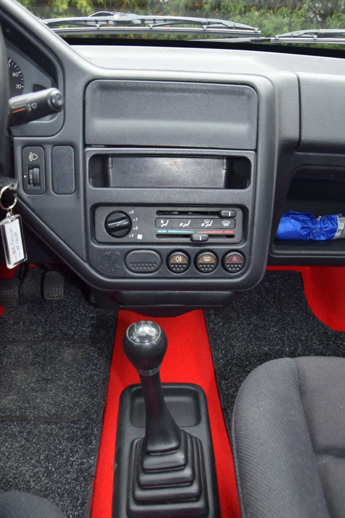 Peugeot 106 Rallye consolle centrale