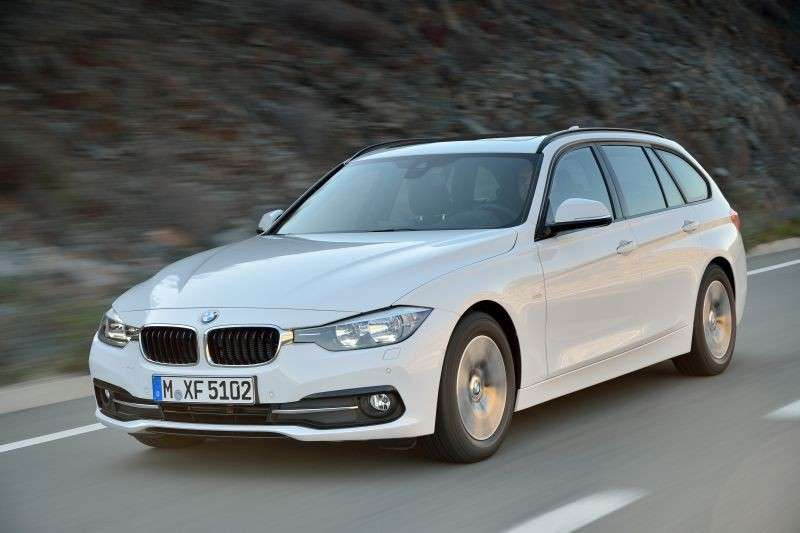 BMW Serie 3 Touring frontale aggressivo