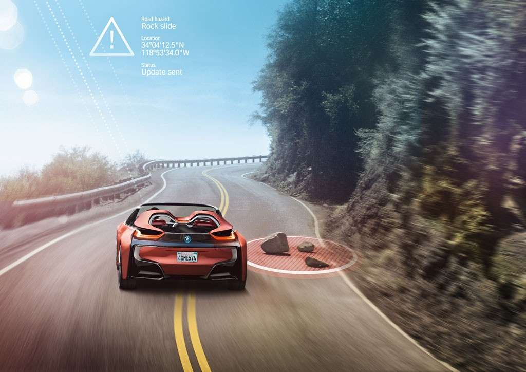 BMW i Vision Future Interaction Concept head-up display