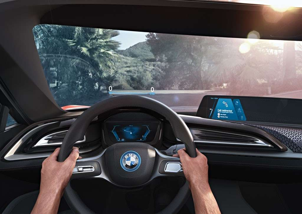 BMW i Vision Future Interaction Concept tre display