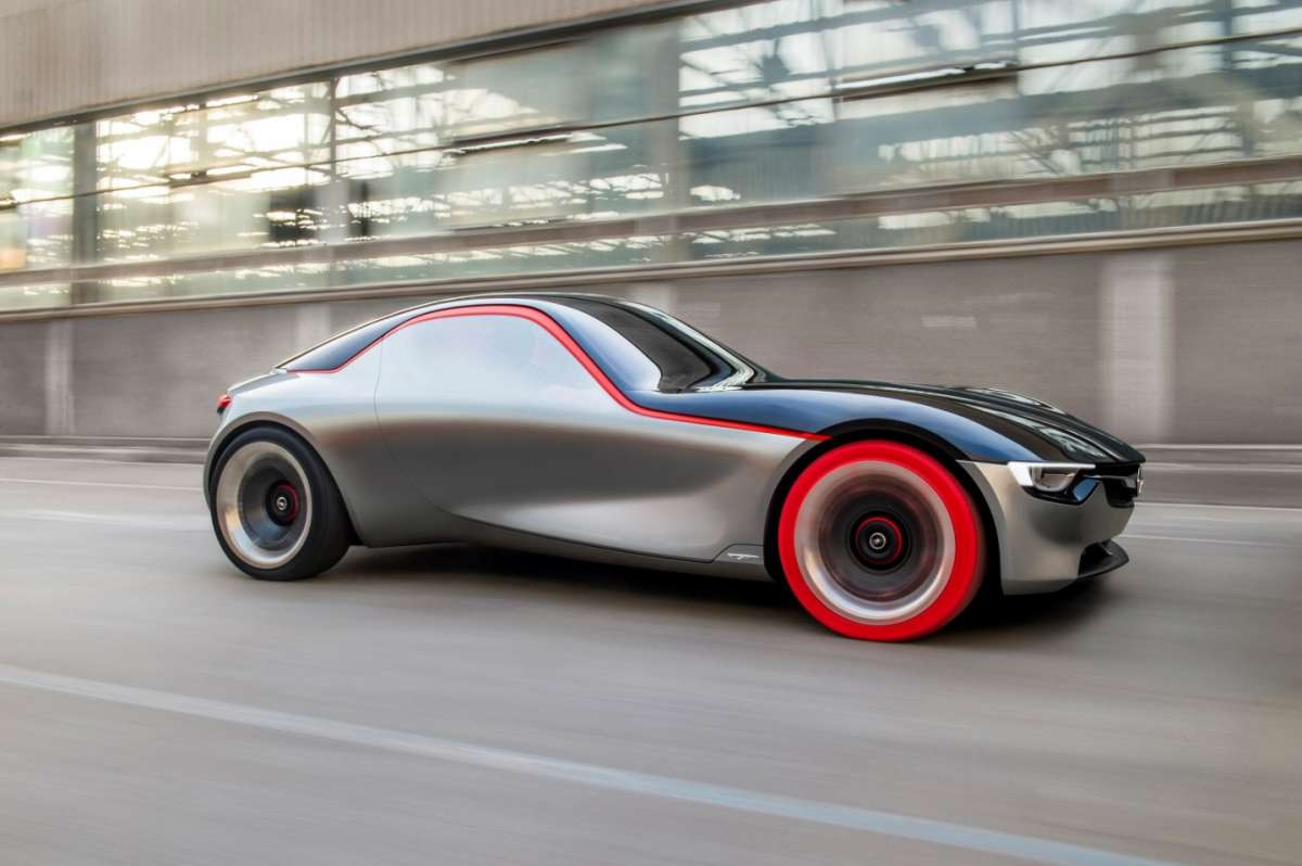Opel GT Concept 2016, gomme rosse