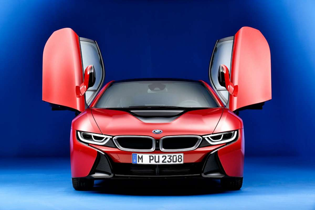 BMW i8 Protonic Red Edition frontale