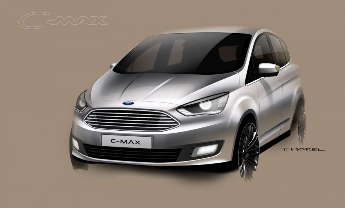 Sketch Ford C-Max restyling