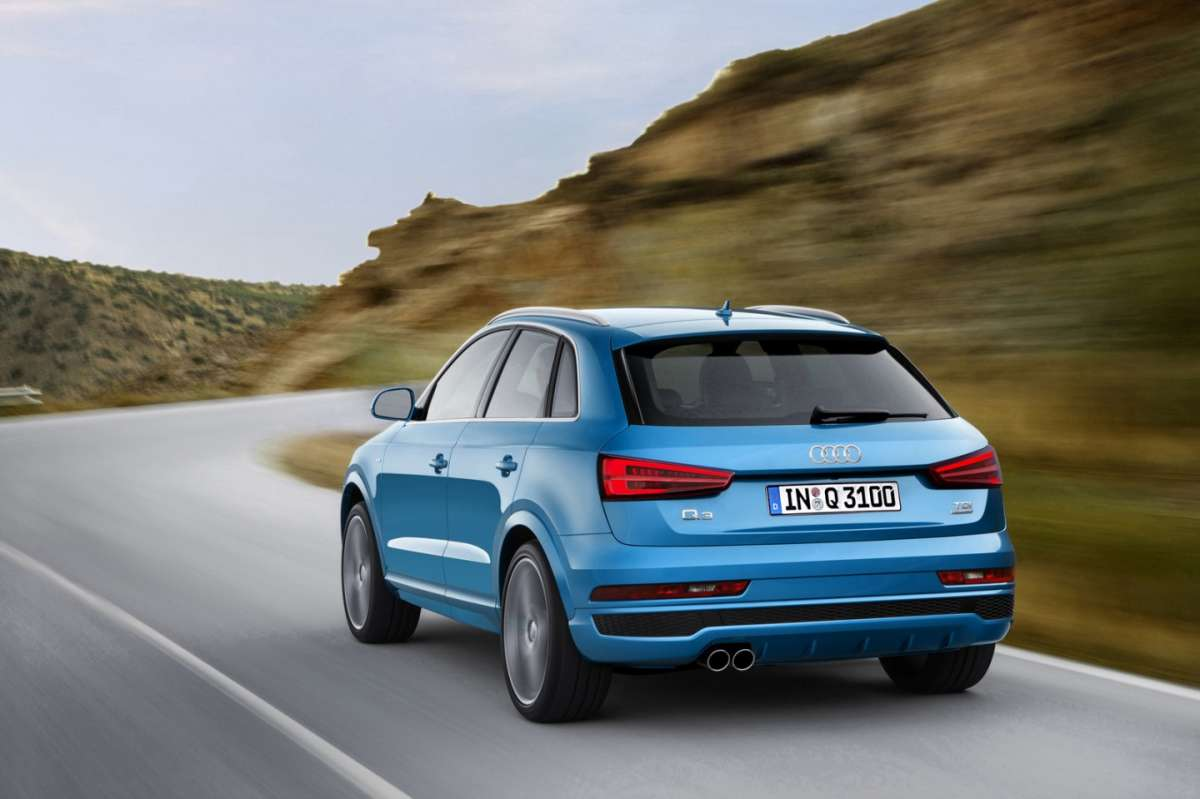 Audi Q3 restyling posteriore