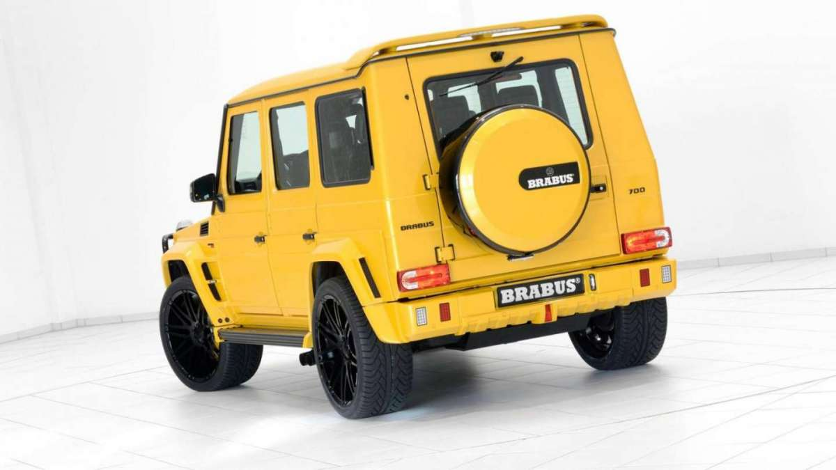 Mercedes G63 AMG Brabus laterale posteriore