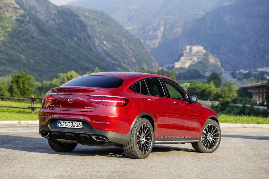 Mercedes GLC Coupé tre quarti