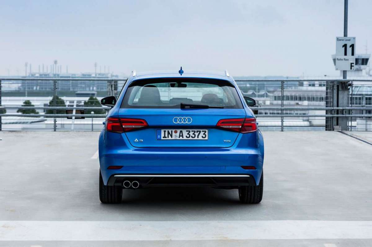 Retro dell'A3 Sportback 2016 restyling