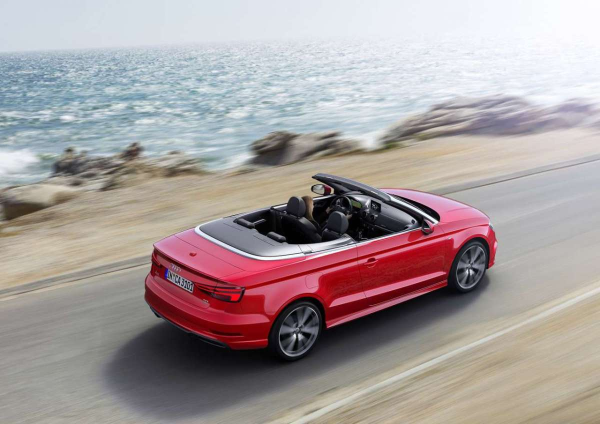 A3 Cabriolet 2016 restyling dall'alto