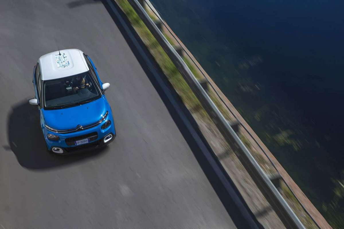 Citroen C3 Facebook-Only Limited Edition dall'alto