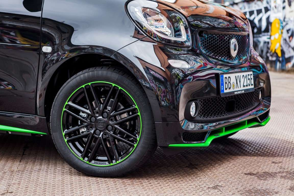 Smart Electric Drive con accessori Brabus
