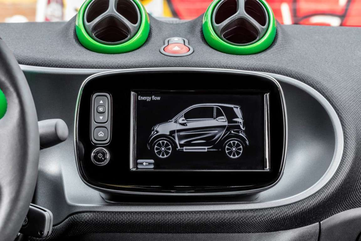 Infotainment su Smart Electric Drive