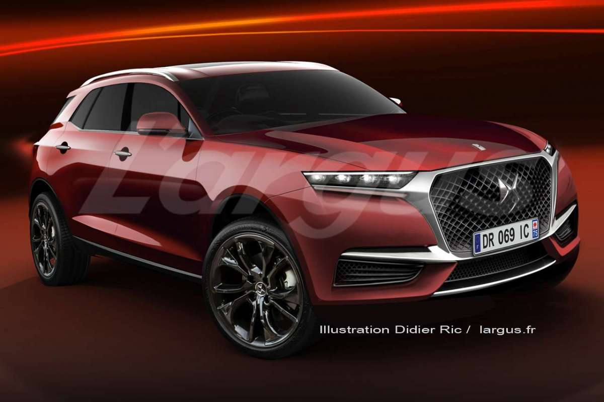 Render del DS 7 Crossback 2018