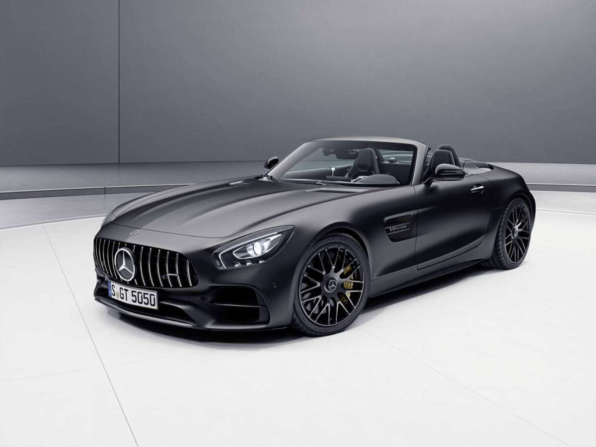 Mercedes AMG GT C Roadster Edition 50 nera