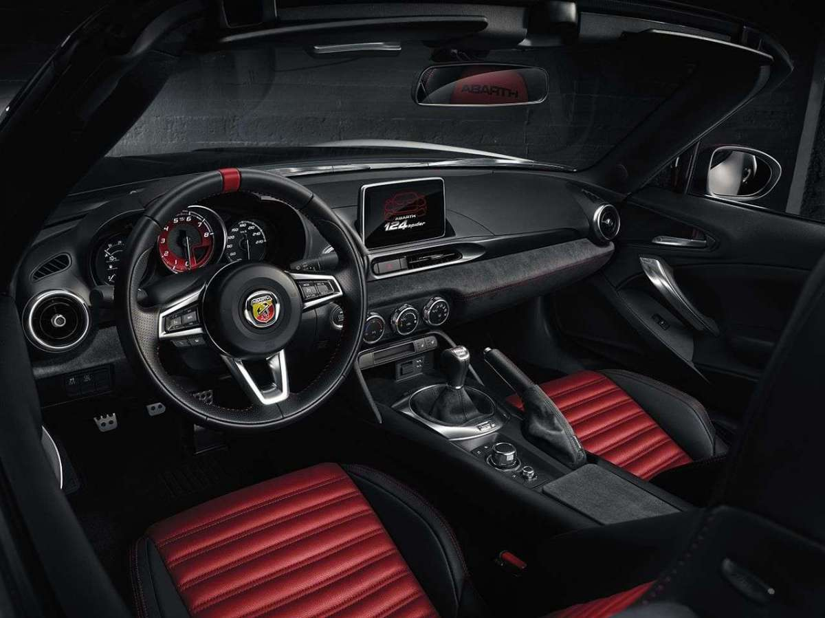 Abarth 124 spider interni