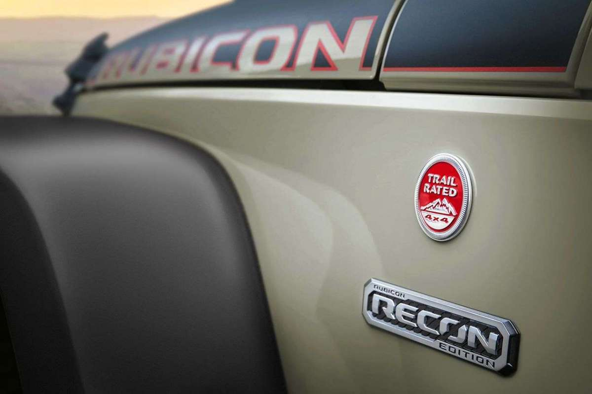 Jeep Wrangler Rubicon Recon badge