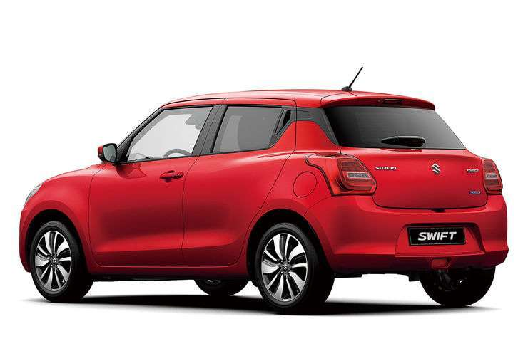 Vista posteriore Nuova Suzuki Swift 2017