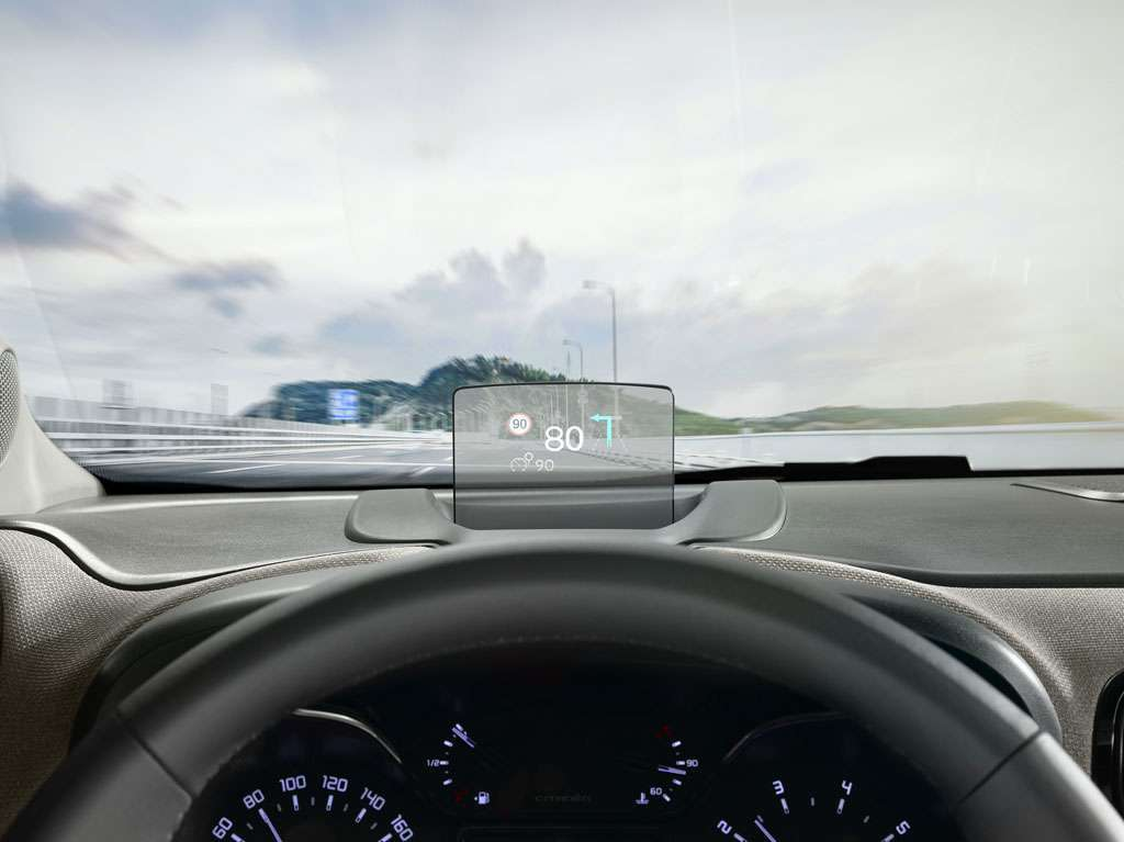 Citroen C3 Aircross head-up display