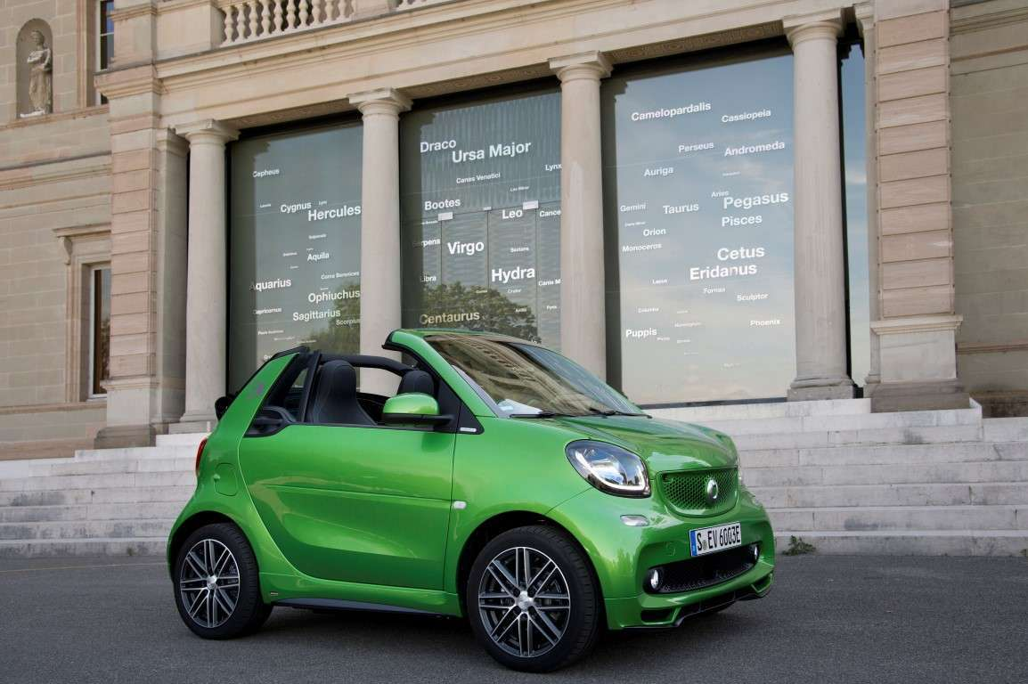 Uscita di Smart electric drive cabrio