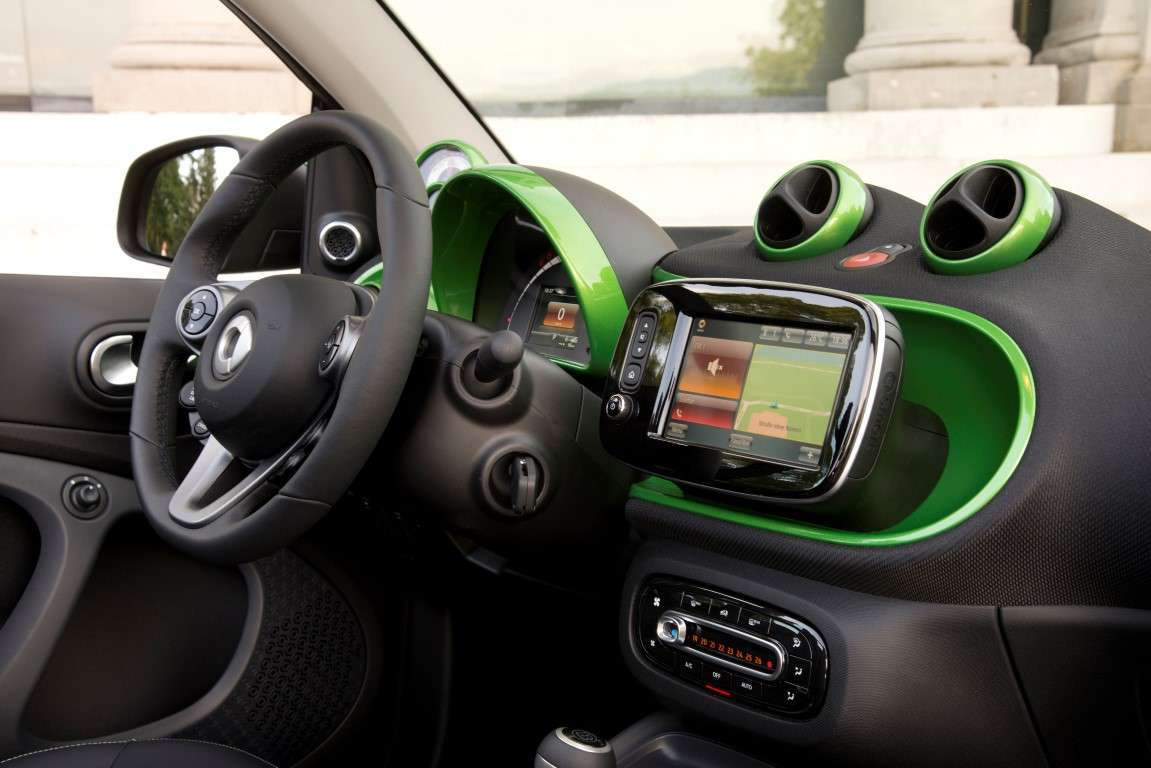 Interni di Smart electric drive cabrio