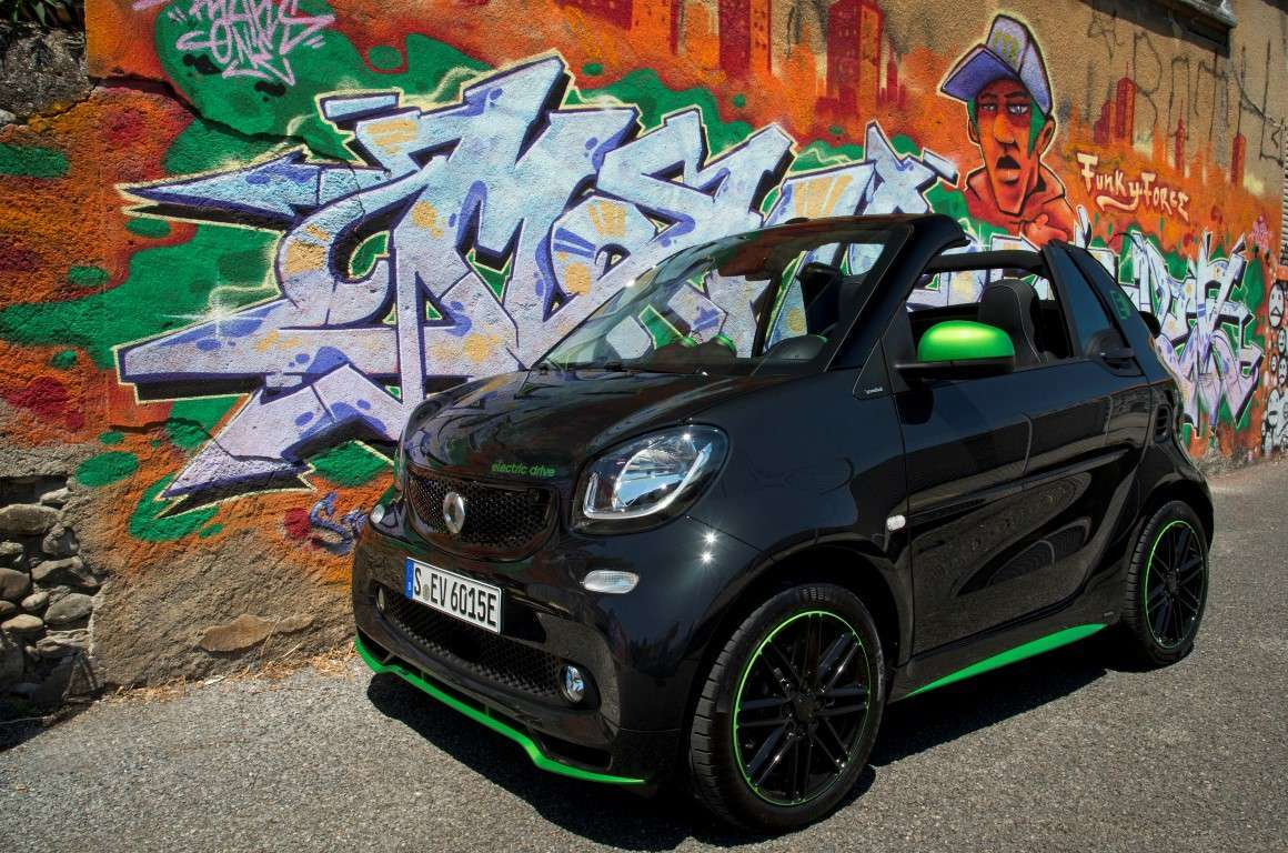 Smart electric drive cabrio greenflash