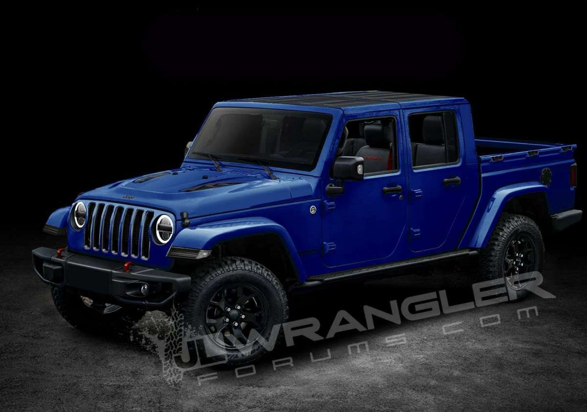Jeep Scrambler pickup render