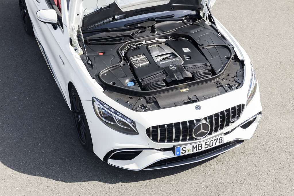 Mercedes AMG S 63 Cabriolet 2018 motore