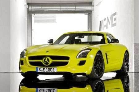 Mercedes SLS AMG E-Cell - frontale