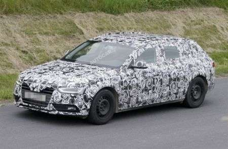 Audi A4 restyling test